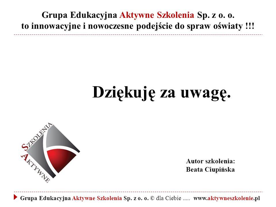 Grupa Edukacyjna Aktywne Szkolenia Sp. z o. o