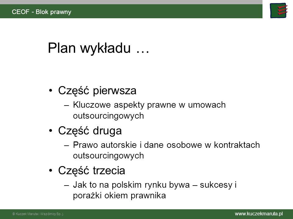 Plan wykładu … Część pierwsza Część druga Część trzecia