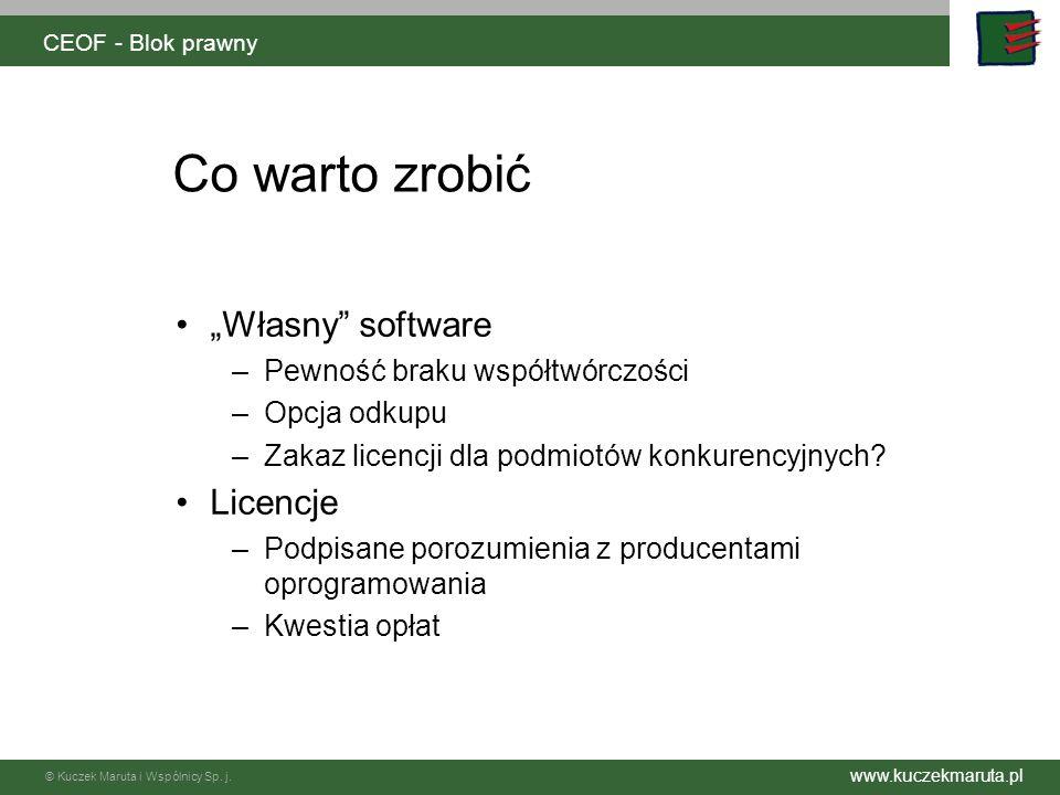 """Co warto zrobić """"Własny software Licencje"""