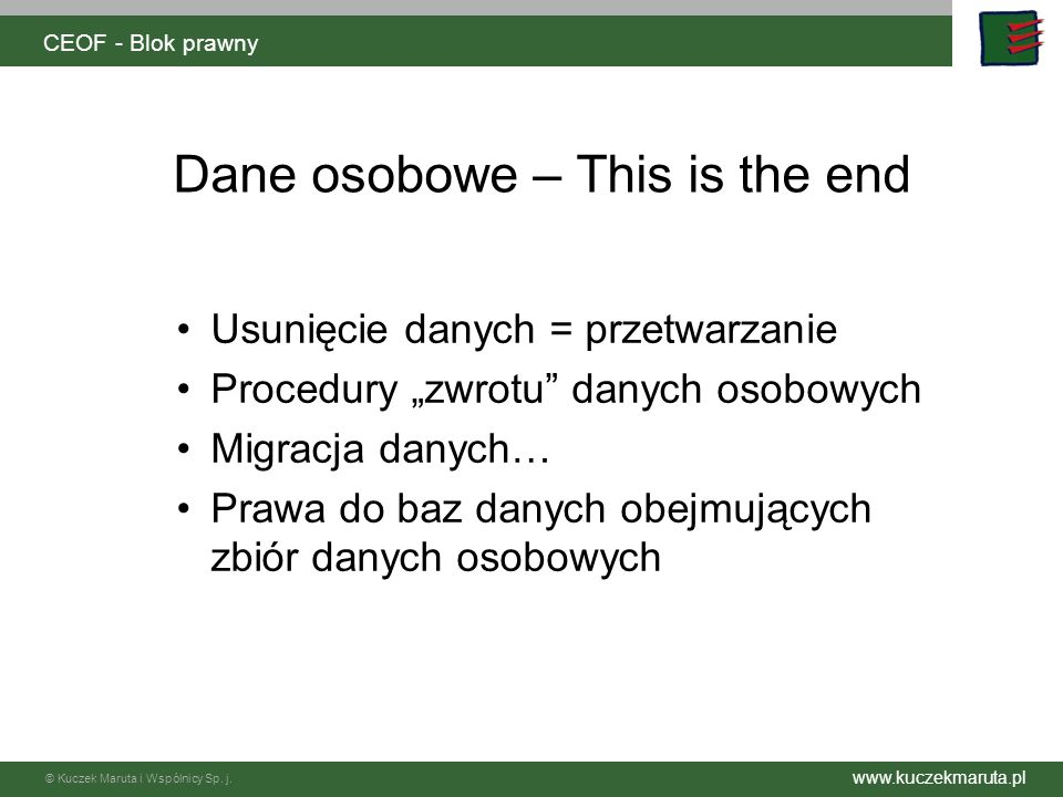 Dane osobowe – This is the end