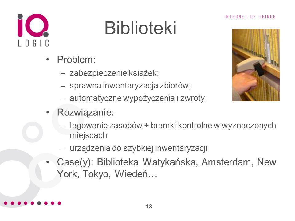 Biblioteki Problem: Rozwiązanie: