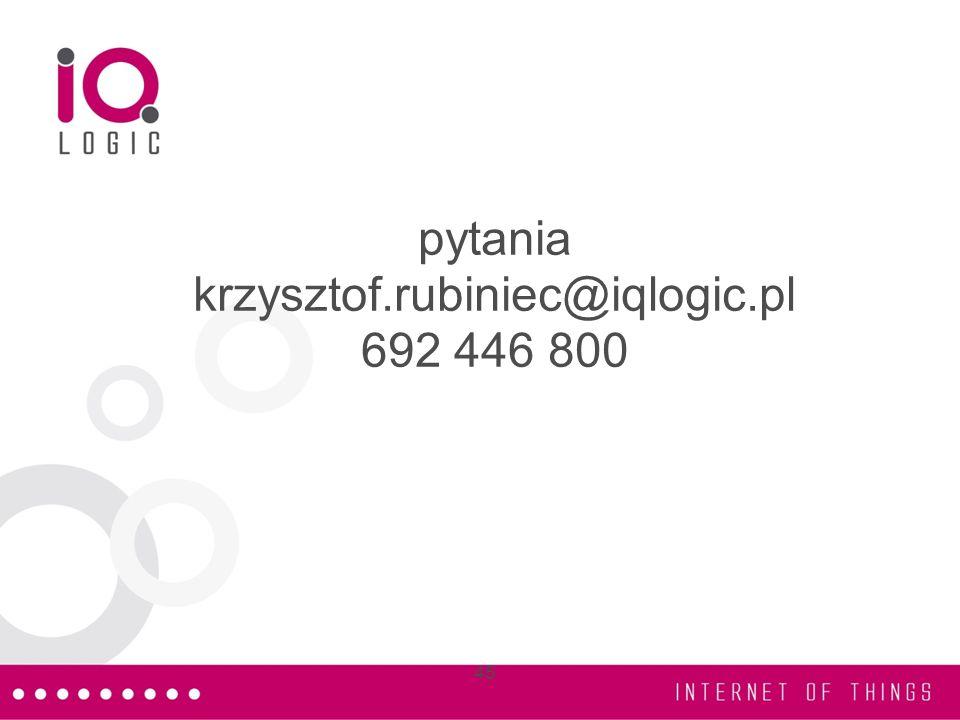 pytania krzysztof.rubiniec@iqlogic.pl 692 446 800