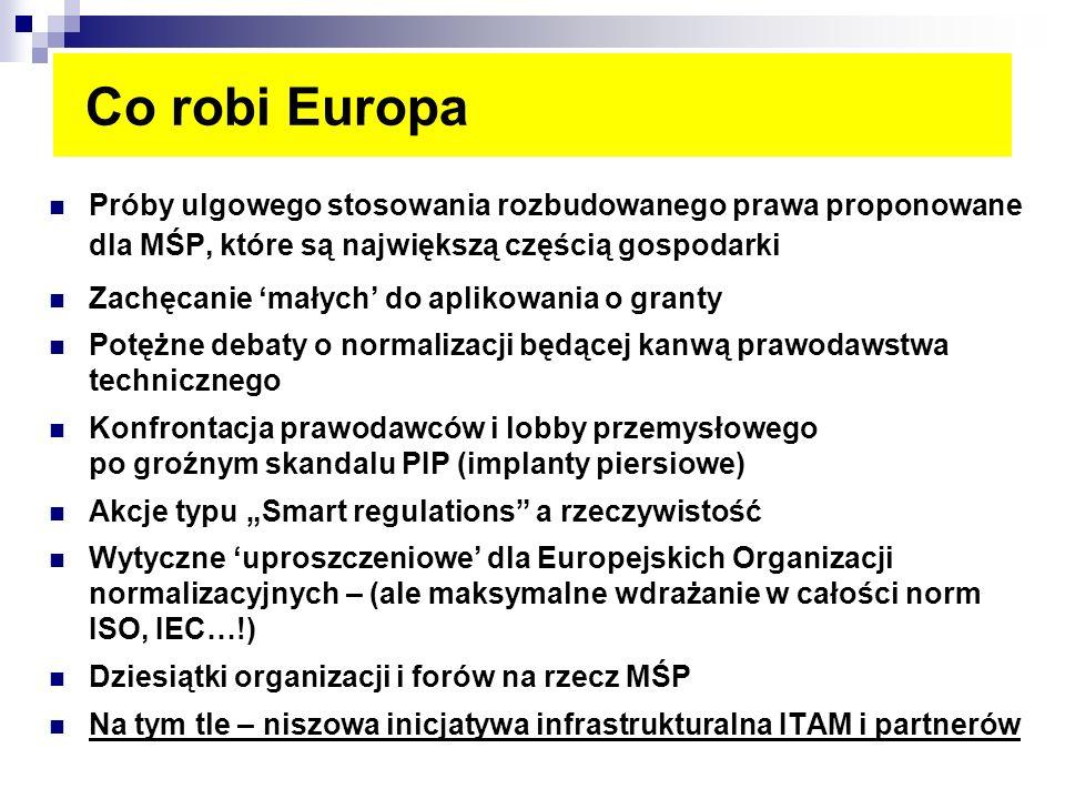 Co robi Europa Próby ulgowego stosowania rozbudowanego prawa proponowane dla MŚP, które są największą częścią gospodarki.