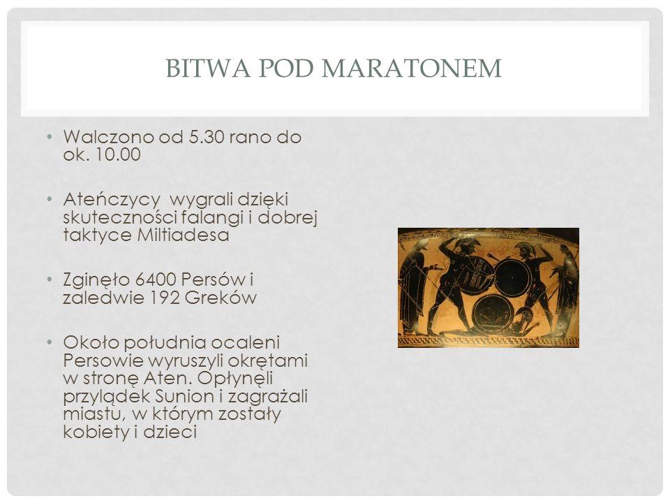 Bitwa pod Maratonem Walczono od 5.30 rano do ok. 10.00