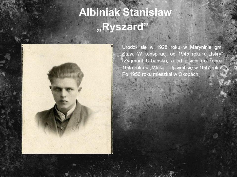 """Albiniak Stanisław """"Ryszard"""