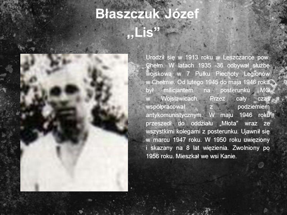 Błaszczuk Józef ,,Lis