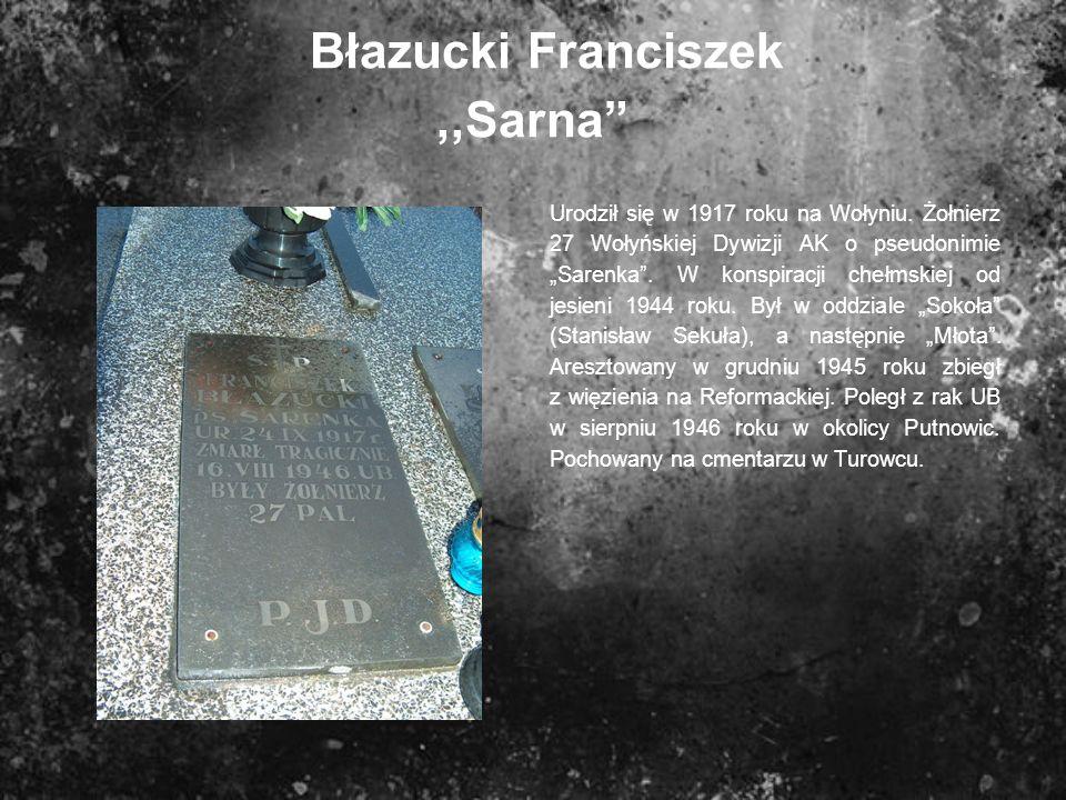 Błazucki Franciszek ,,Sarna