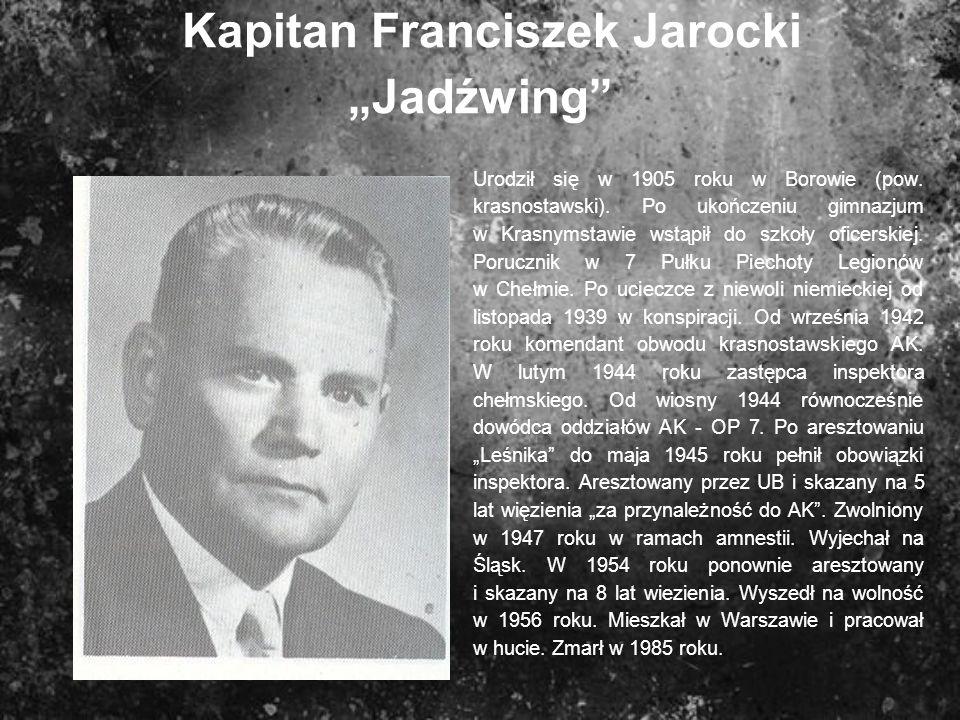 "Kapitan Franciszek Jarocki ""Jadźwing"
