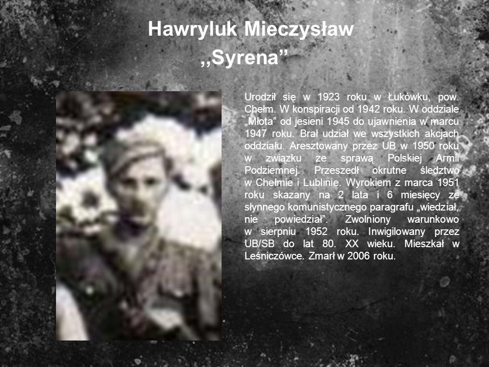 Hawryluk Mieczysław ,,Syrena