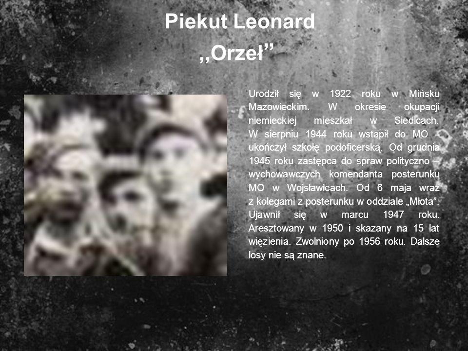 Piekut Leonard ,,Orzeł