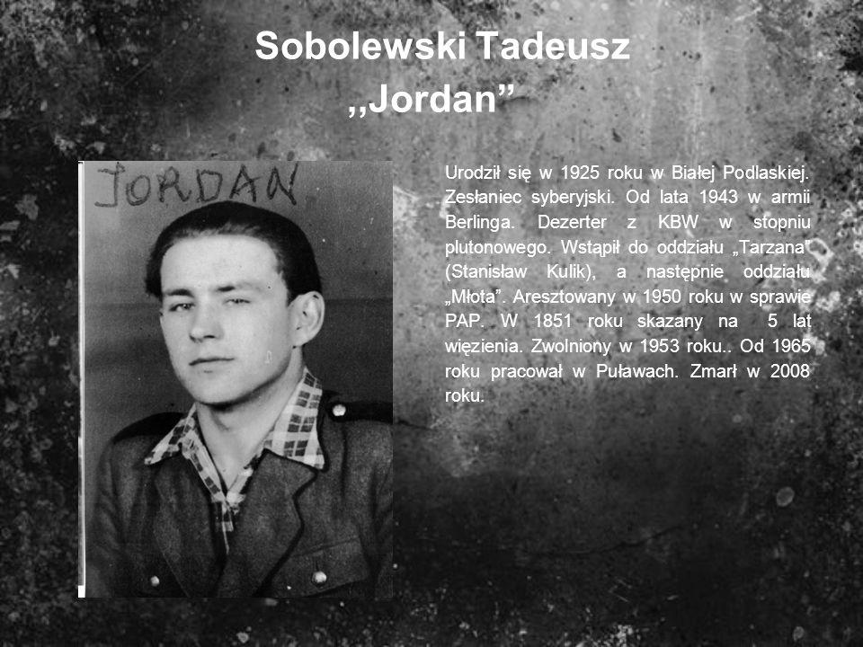 Sobolewski Tadeusz ,,Jordan