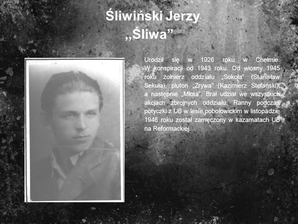Śliwiński Jerzy ,,Śliwa