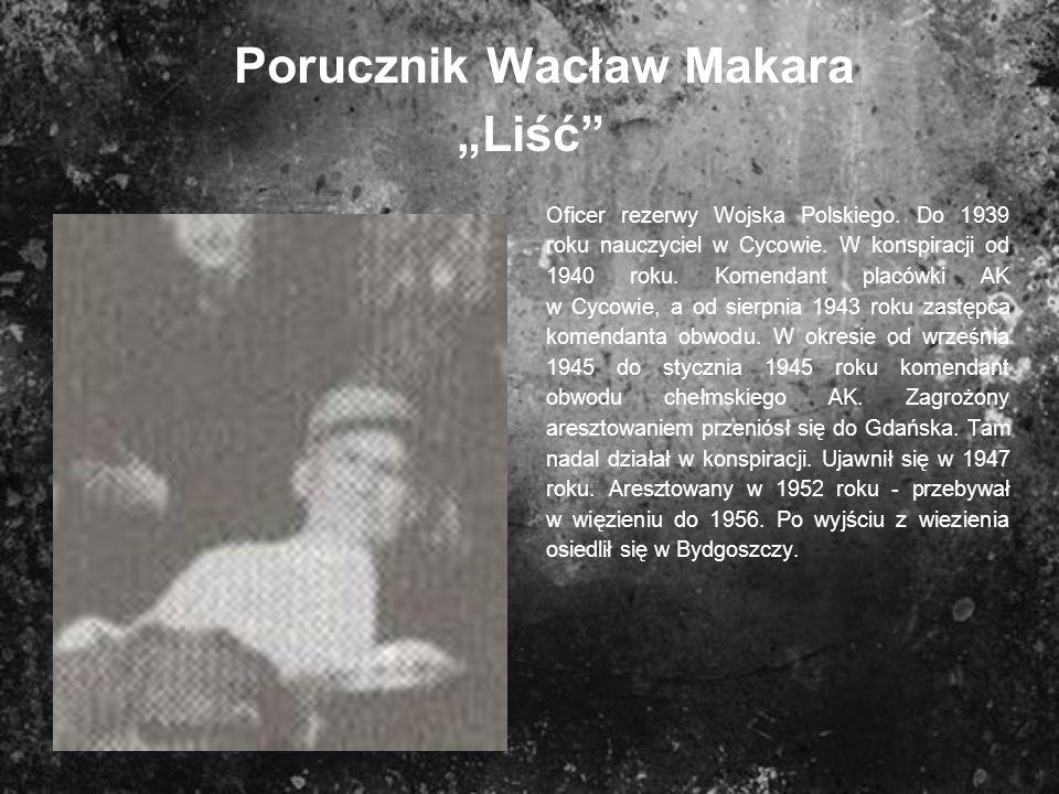 """Porucznik Wacław Makara """"Liść"""