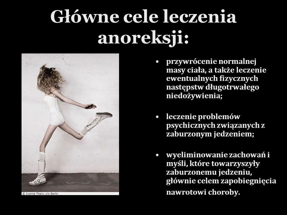 Główne cele leczenia anoreksji: