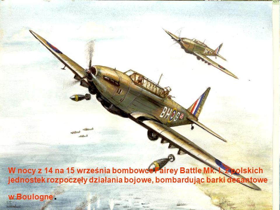 W nocy z 14 na 15 września bombowce Fairey Battle Mk. I