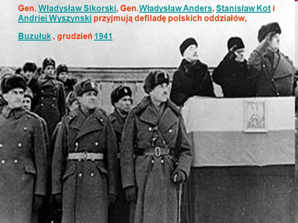 Gen. Władysław Sikorski, Gen