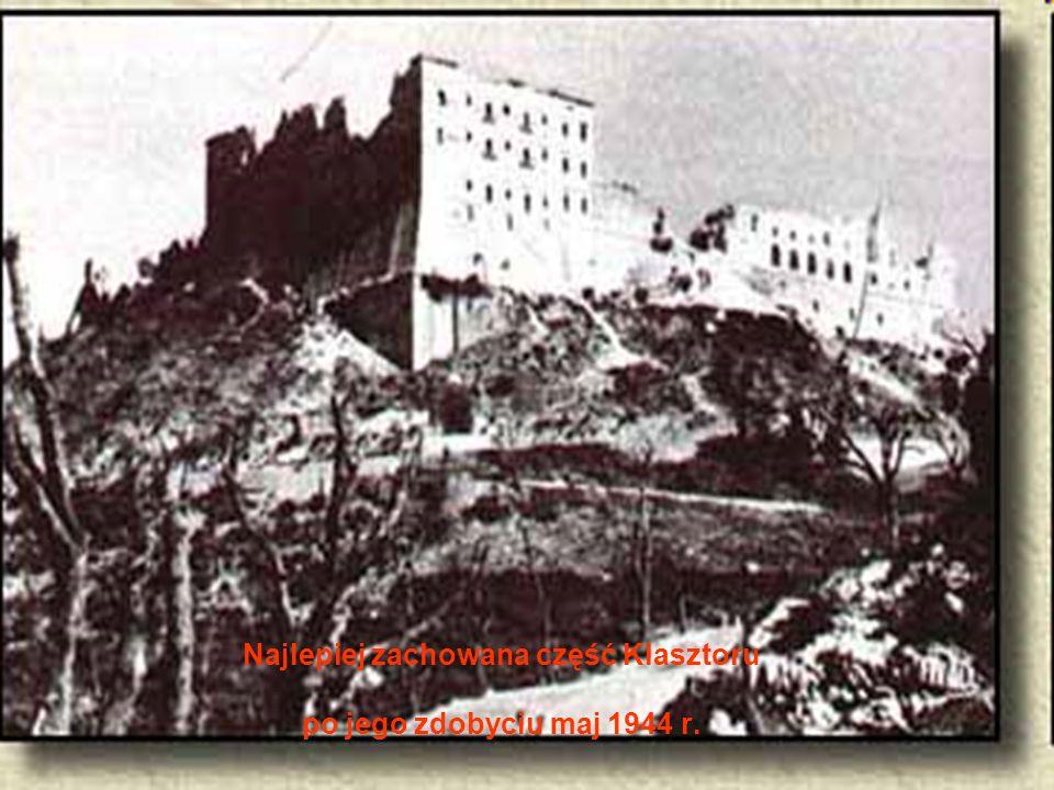 Najlepiej zachowana część Klasztoru po jego zdobyciu maj 1944 r.