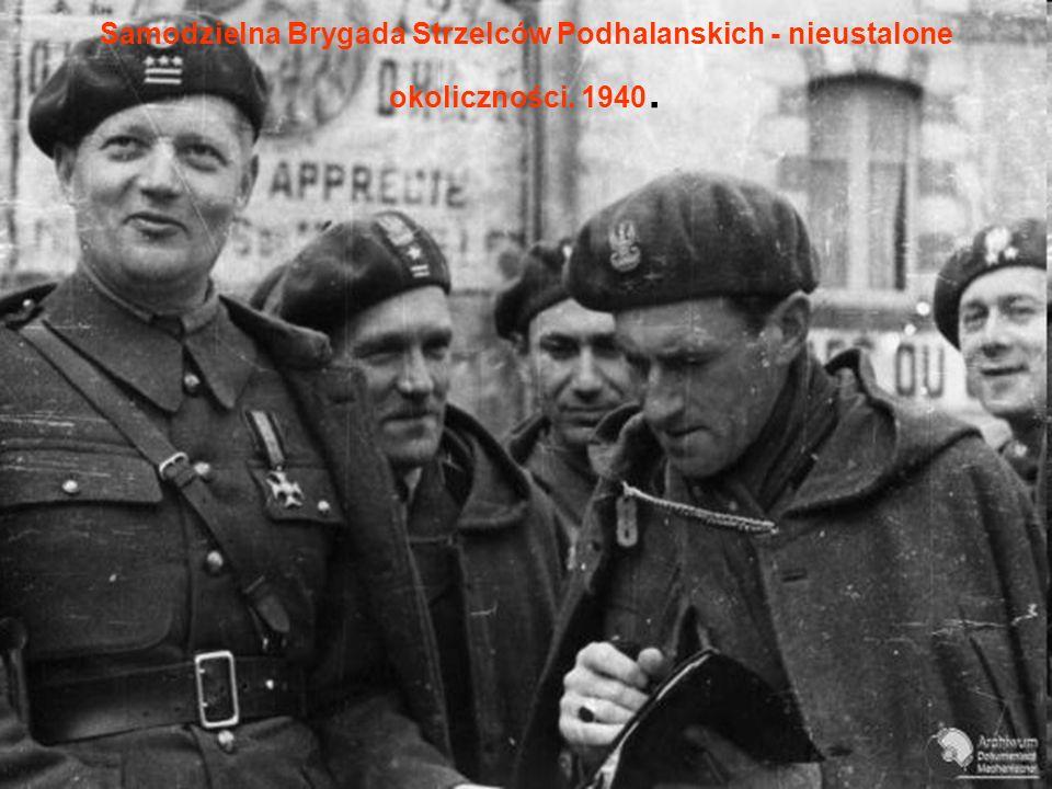 Samodzielna Brygada Strzelców Podhalanskich - nieustalone okoliczności