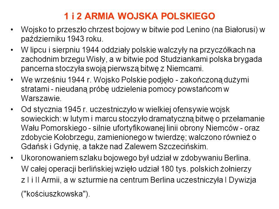 1 i 2 ARMIA WOJSKA POLSKIEGO