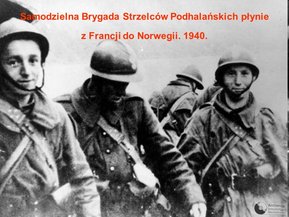 Samodzielna Brygada Strzelców Podhalańskich płynie z Francji do Norwegii. 1940.
