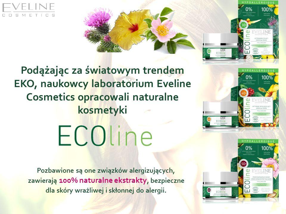 Podążając za światowym trendem EKO, naukowcy laboratorium Eveline Cosmetics opracowali naturalne kosmetyki