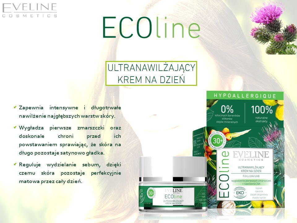 Zapewnia intensywne i długotrwałe nawilżenie najgłębszych warstw skóry.