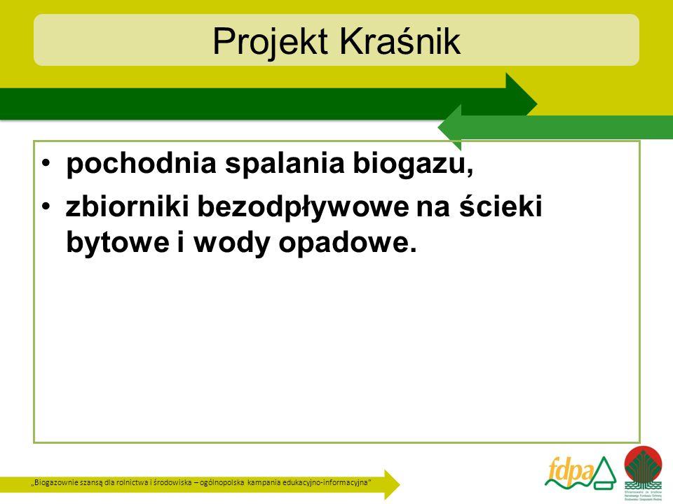 Projekt Kraśnik pochodnia spalania biogazu,
