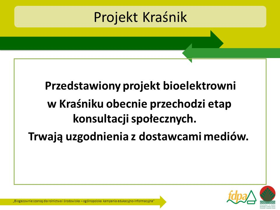 Projekt Kraśnik Przedstawiony projekt bioelektrowni