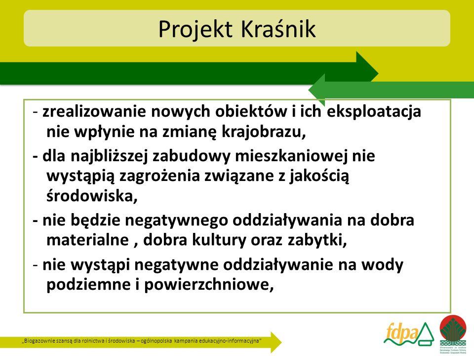 Projekt Kraśnik - zrealizowanie nowych obiektów i ich eksploatacja nie wpłynie na zmianę krajobrazu,