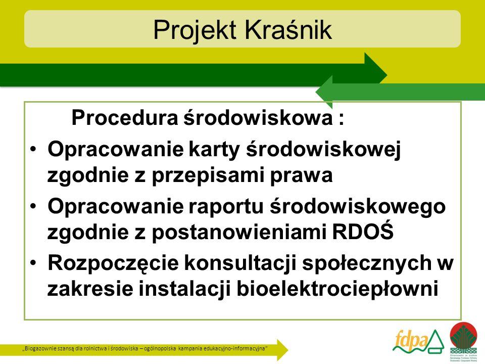 Projekt Kraśnik Procedura środowiskowa :