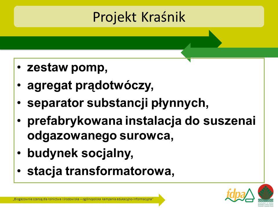 Projekt Kraśnik zestaw pomp, agregat prądotwóczy,