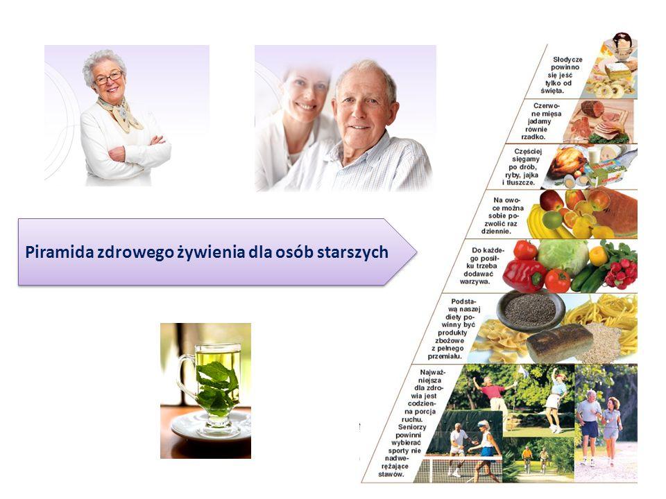 Piramida zdrowego żywienia dla osób starszych
