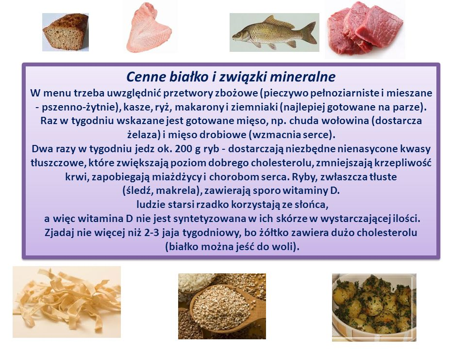 Cenne białko i związki mineralne