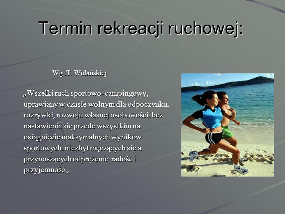 Termin rekreacji ruchowej: