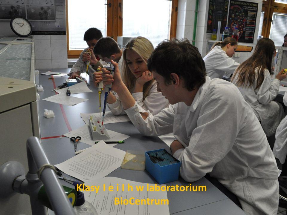 Klasy I e i I h w laboratorium BioCentrum