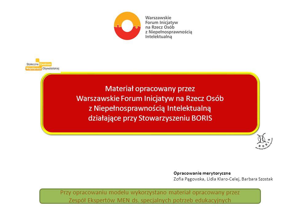Materiał opracowany przez Warszawskie Forum Inicjatyw na Rzecz Osób