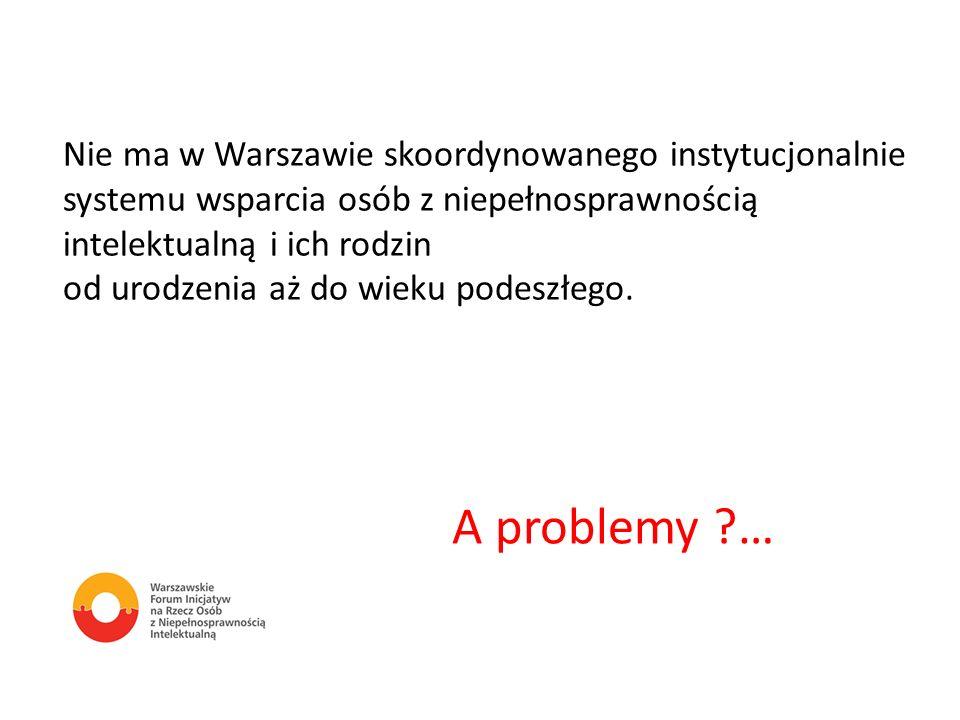 A problemy … Nie ma w Warszawie skoordynowanego instytucjonalnie