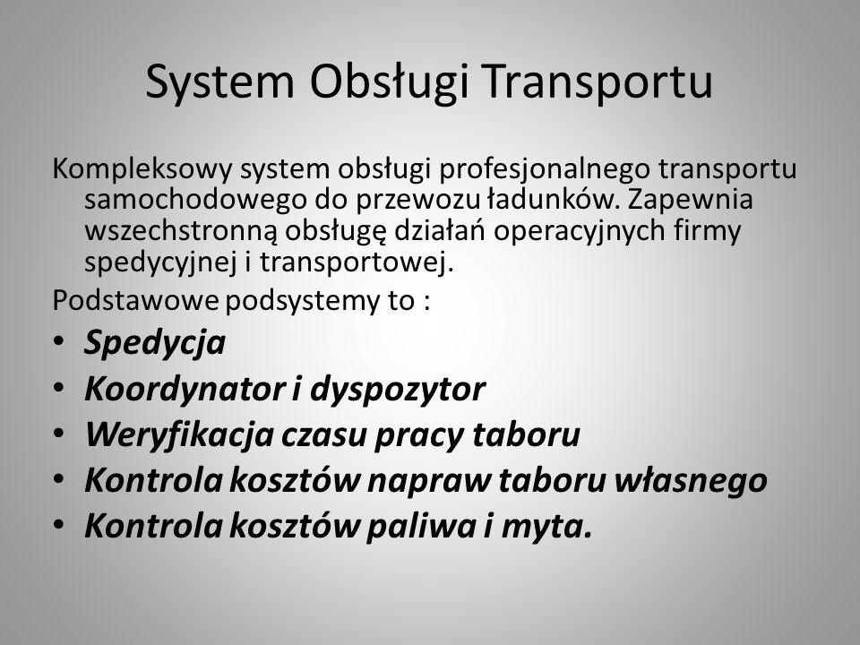 System Obsługi Transportu