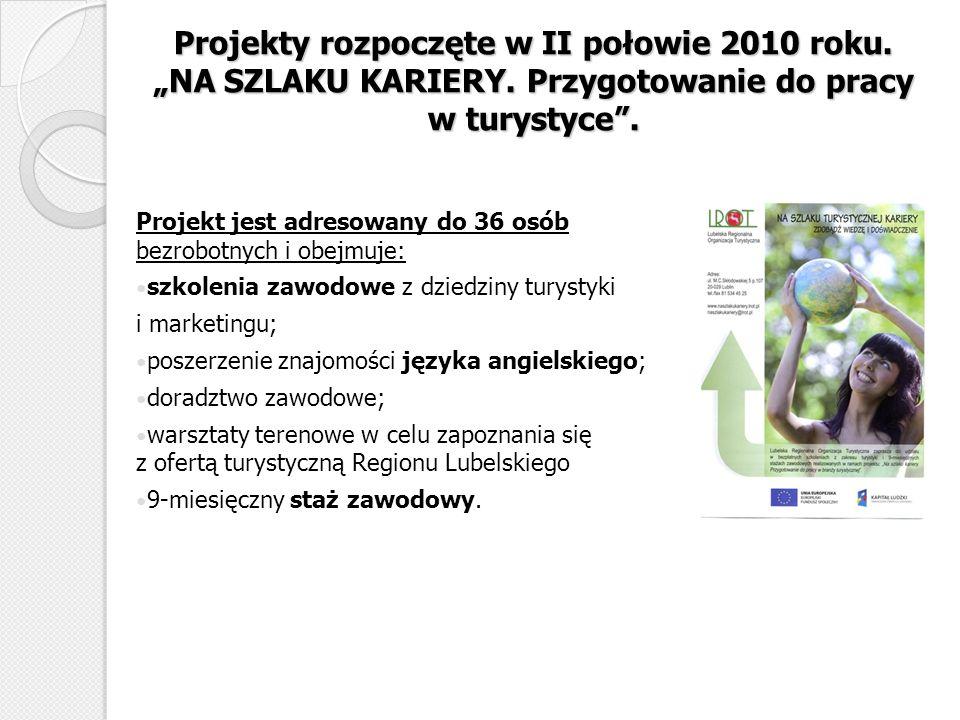 """Projekty rozpoczęte w II połowie 2010 roku. """"NA SZLAKU KARIERY"""