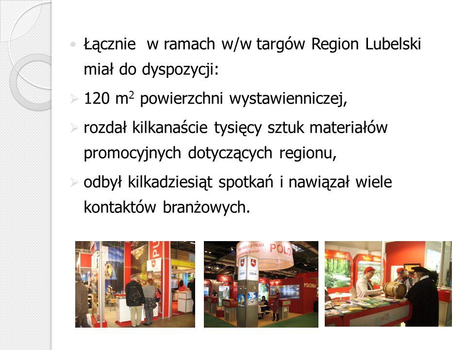 Łącznie w ramach w/w targów Region Lubelski miał do dyspozycji: