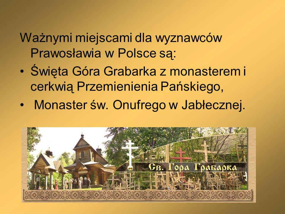 Ważnymi miejscami dla wyznawców Prawosławia w Polsce są: