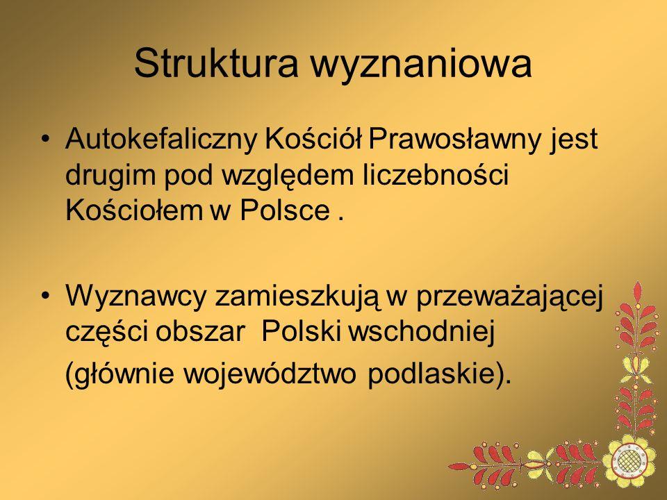 Struktura wyznaniowa Autokefaliczny Kościół Prawosławny jest drugim pod względem liczebności Kościołem w Polsce .