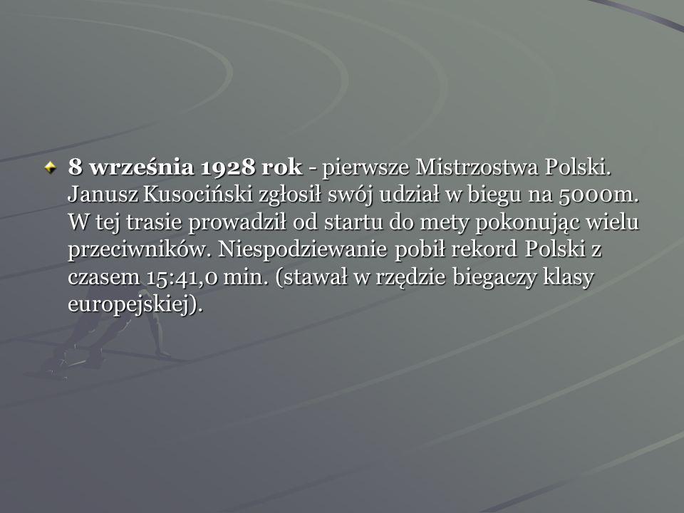 8 września 1928 rok - pierwsze Mistrzostwa Polski