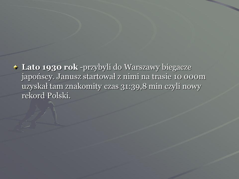 Lato 1930 rok -przybyli do Warszawy biegacze japońscy