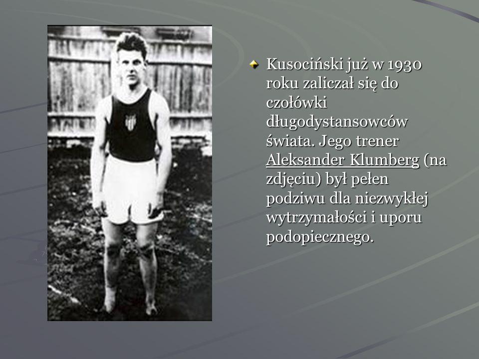 Kusociński już w 1930 roku zaliczał się do czołówki długodystansowców świata.