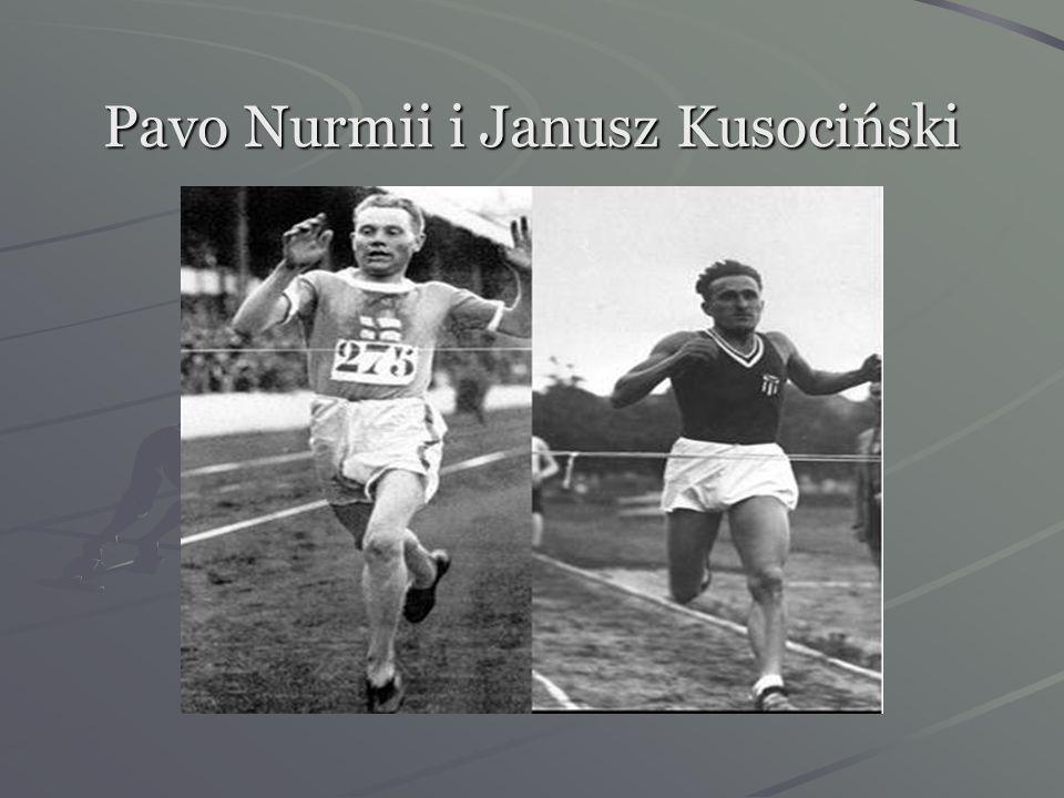 Pavo Nurmii i Janusz Kusociński