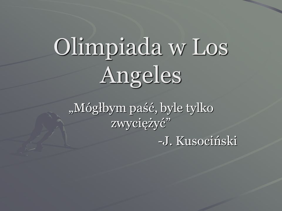 Olimpiada w Los Angeles