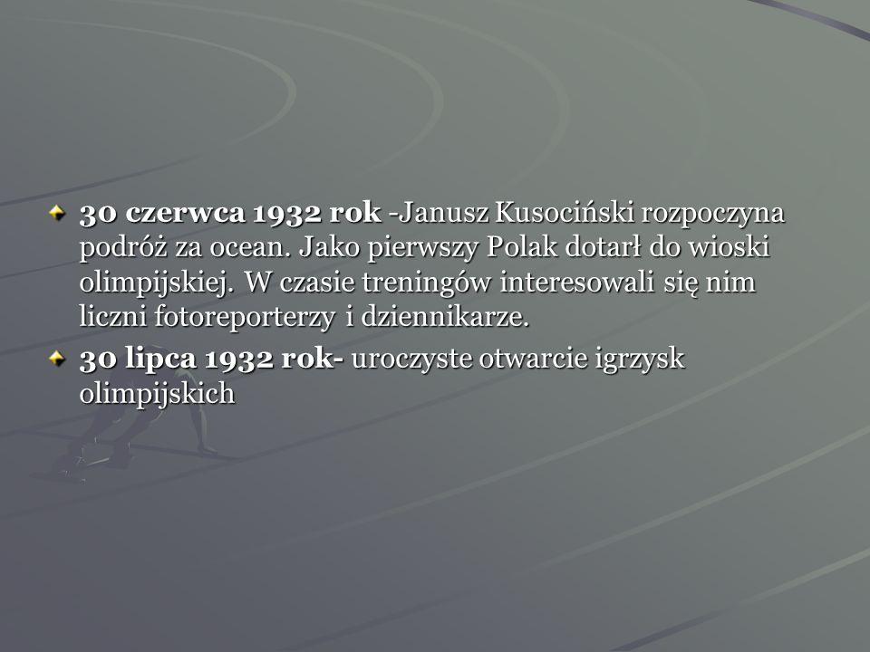 30 czerwca 1932 rok -Janusz Kusociński rozpoczyna podróż za ocean