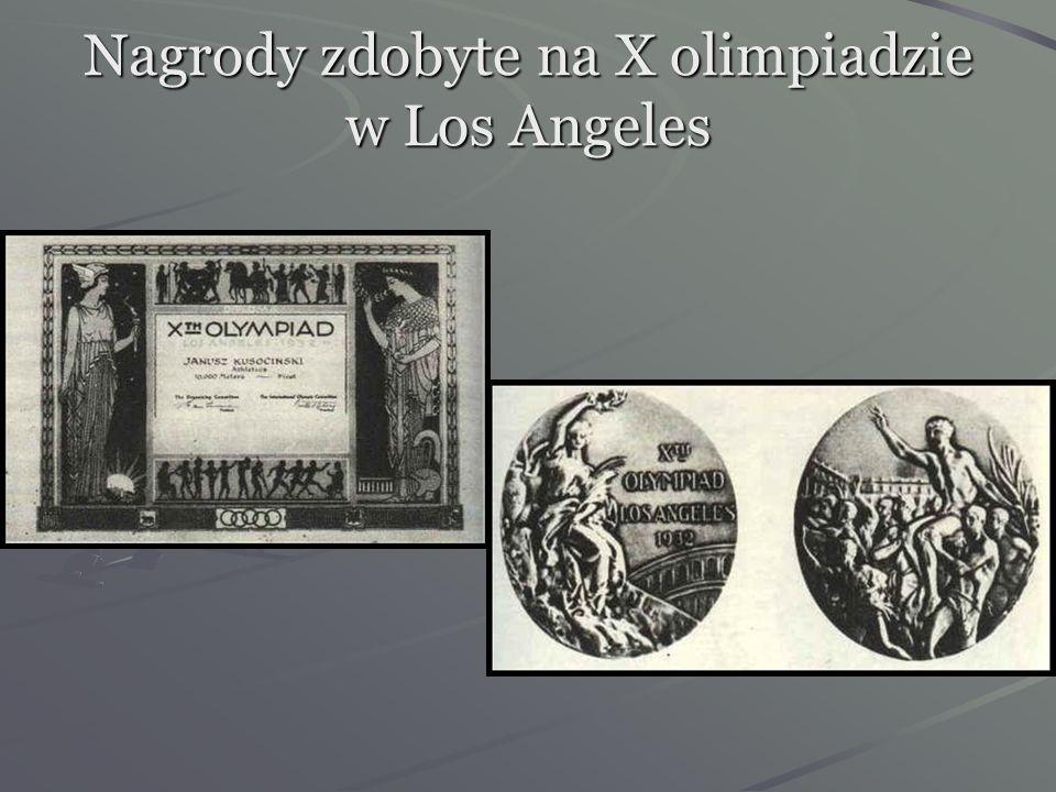 Nagrody zdobyte na X olimpiadzie w Los Angeles