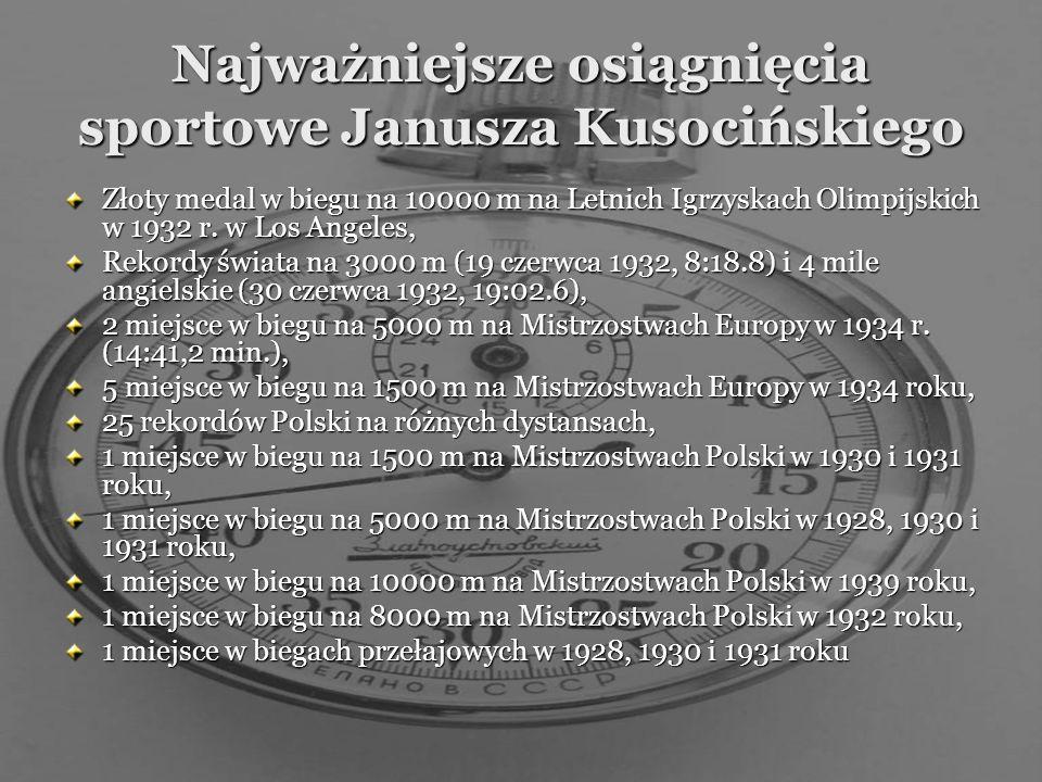 Najważniejsze osiągnięcia sportowe Janusza Kusocińskiego